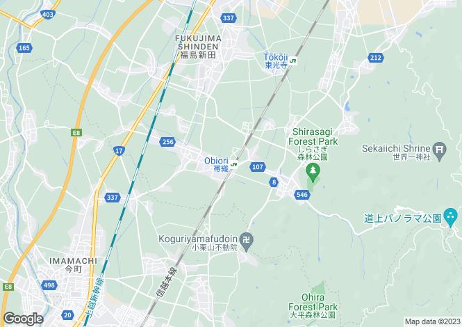 Map for Niigata