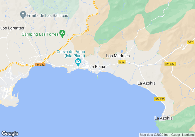Map for Isla Plana, Murcia