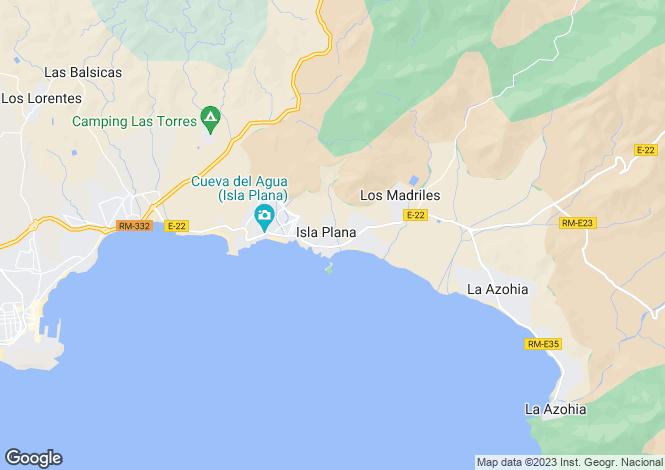 Map for Isla Plana, Murcia