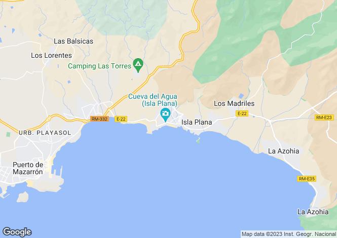 Map for El Mojon., Lanzarote, Spain