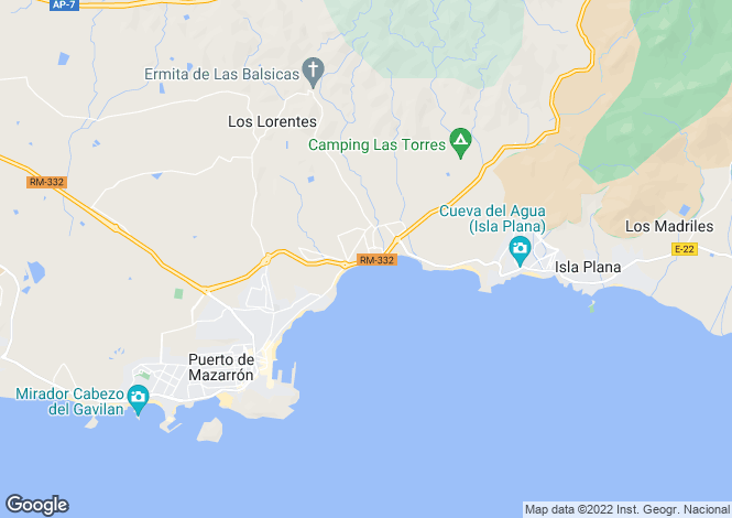 Map for Puerto de MazarrA?n,  Murcia, Spain