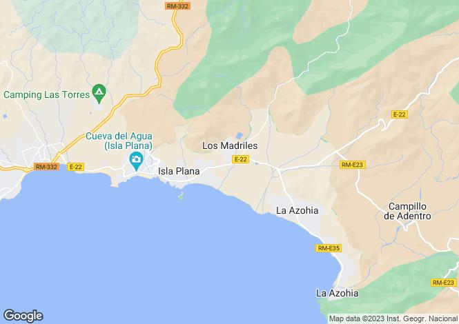 Map for Isla Plana, Murcia, Spain