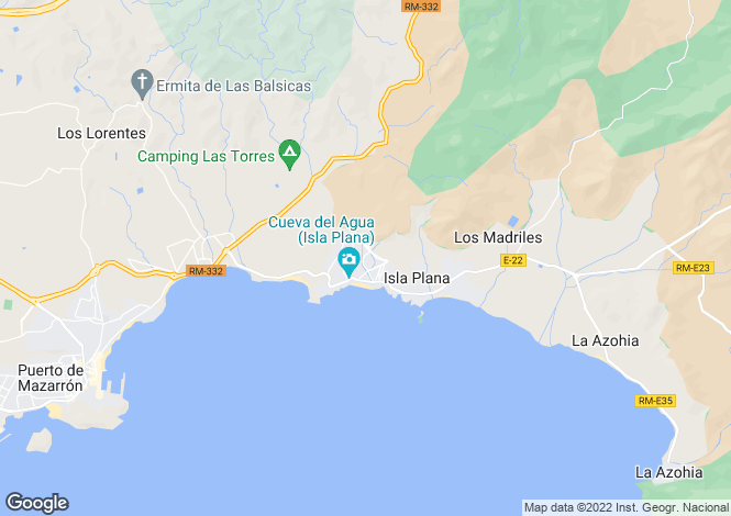 Map for Isla Plana, Murcia, Spain