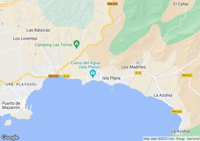 Map for Murcia, Isla Plana