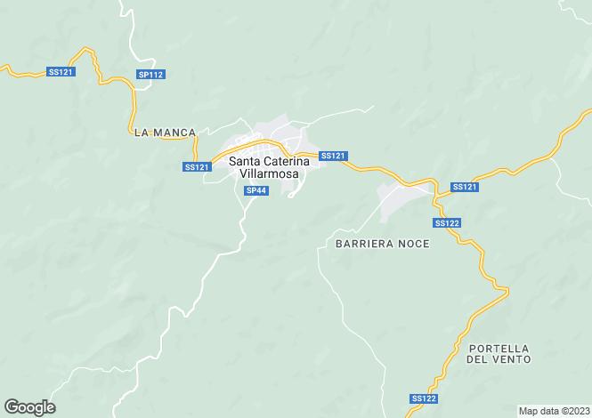 Map for Sicily, Caltanissetta, Santa Caterina Villarmosa