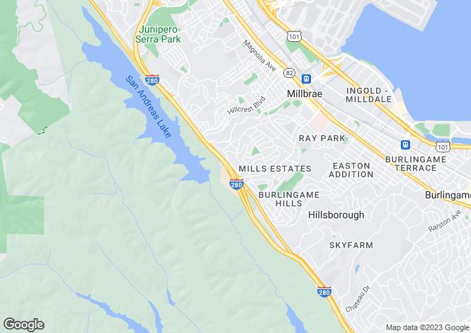 Map for USA - California, San Mateo County, Millbrae