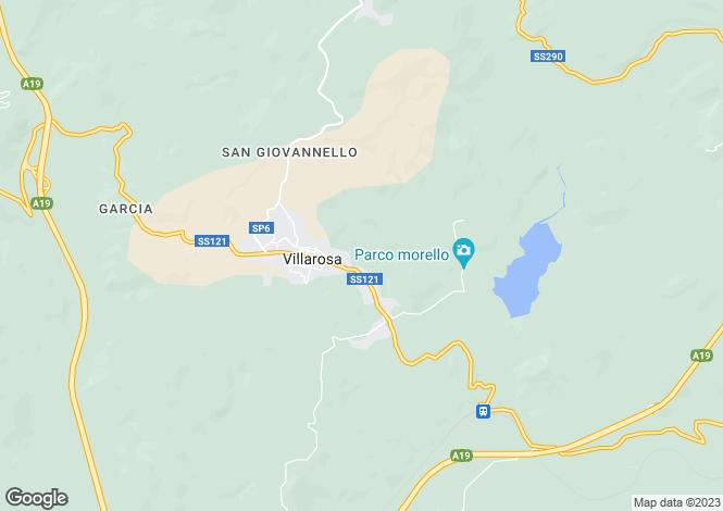 Map for Sicily, Enna, Villarosa