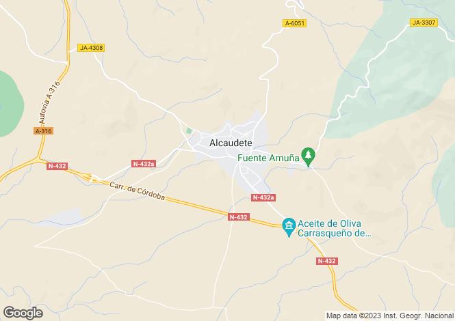 Map for Alcaudete, Jaen, Spain