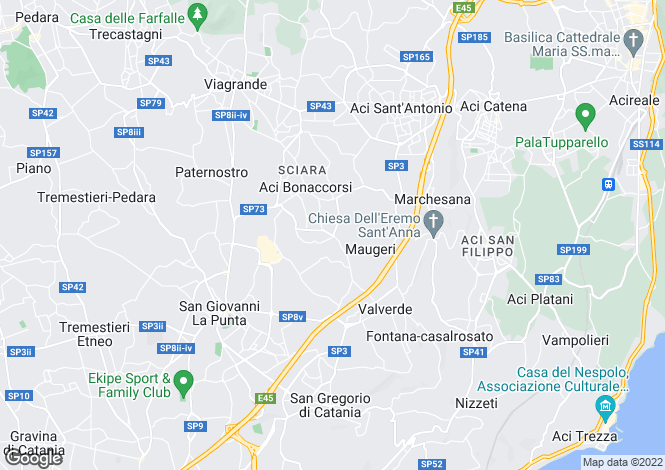 Map for Aci Sant`Antonio, Catania, Sicily
