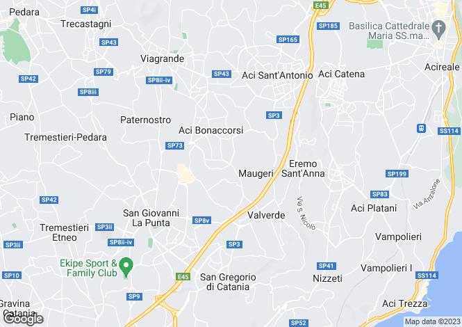 Map for Aci Sant`Antonio, Catania, Sicily