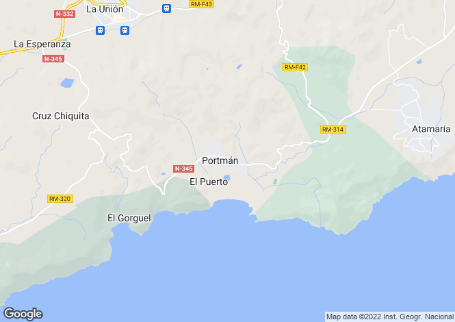 Map for Portman, Murcia