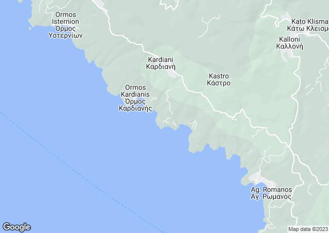 Map for Capari, Feggera, Tinos, Greece