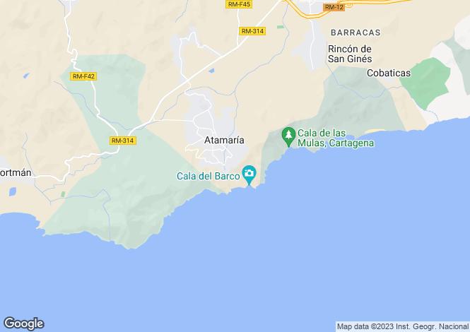 Map for Murcia, Costa Calida, La Manga Club