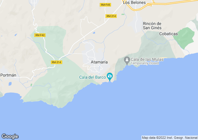 Map for Murcia, Costa Calida, La Manga Club