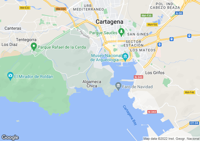 Map for Cartagena, Murcia
