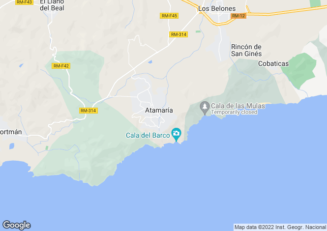 Map for La Manga Club, Murcia