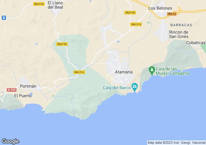 Map for La Manga Club, Murcia, Spain
