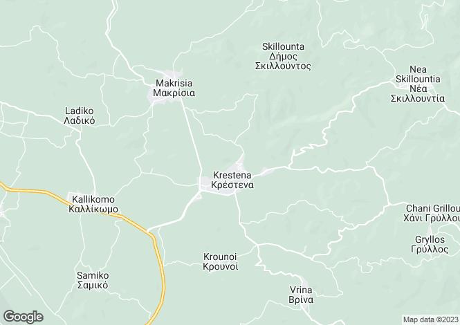 Map for Krestena, Elis, Peloponnese
