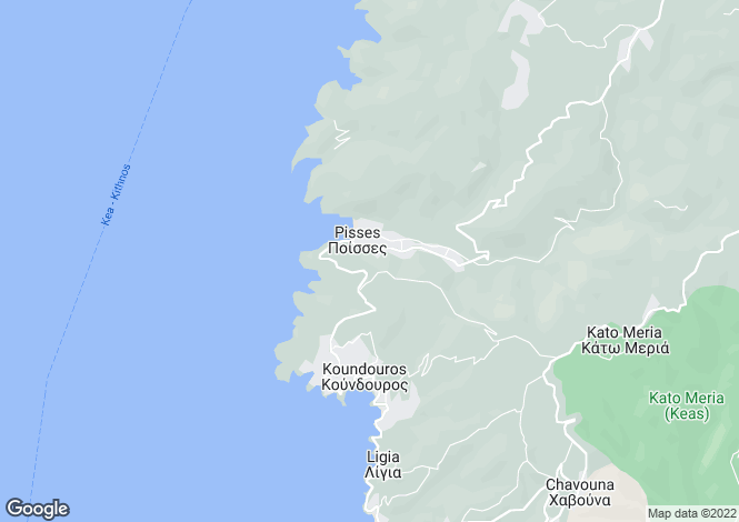 Map for Koundouros, Tzia, Cyclades islands