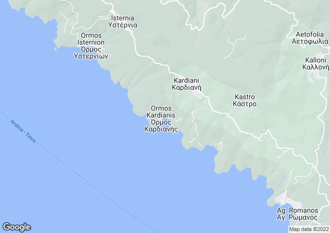 Map for Panormos, Tinos, Cyclades islands