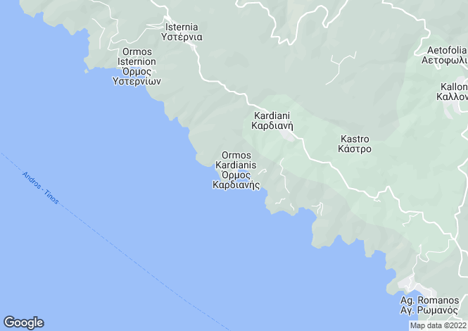 Map for Agios Romanos, Tinos, Cyclades islands