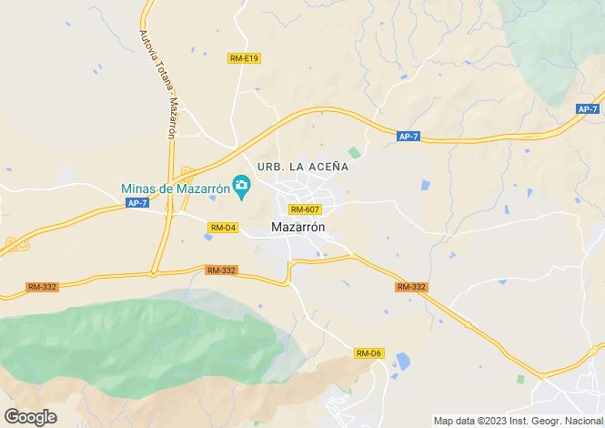 Map for Mazarron,Murcia