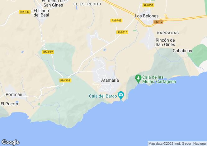 Map for Rincón de San Ginés, Cartagena, Murcia