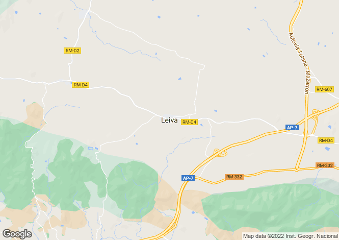 Map for Leiva,Murcia