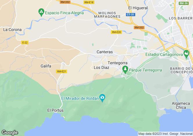 Map for Spain - Murcia, Cartagena