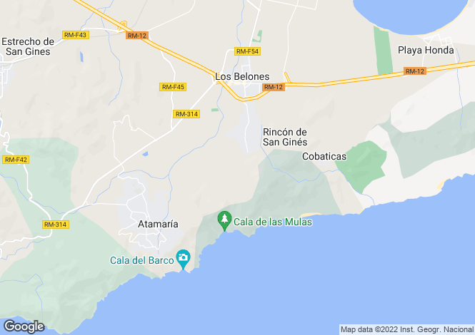 Map for Murcia, Los Belones