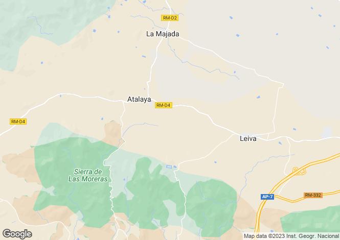 Map for Mazarrón, Murcia