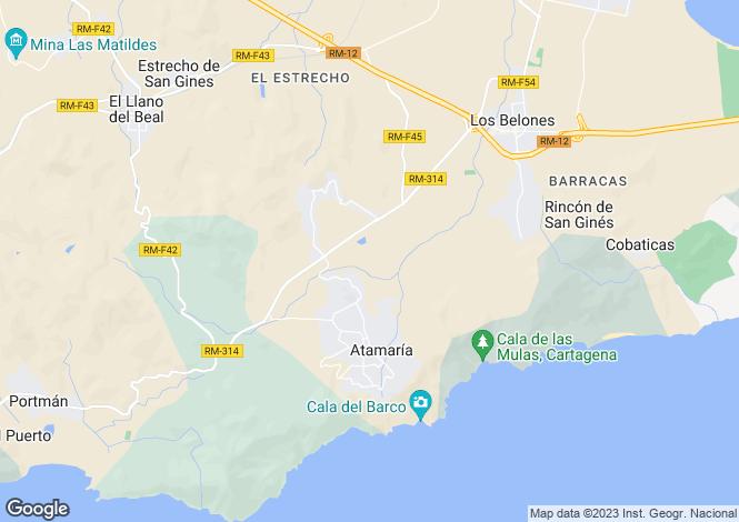 Map for La Manga del Mar Menor, San Javier, Murcia