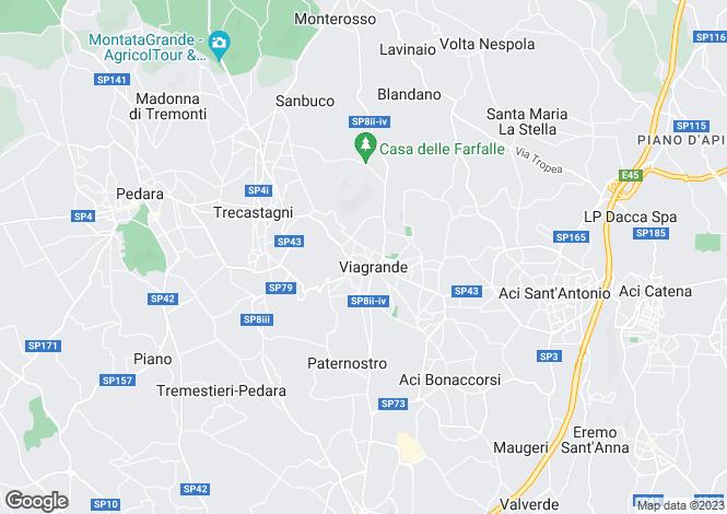 Map for Trecastagni, Catania, Sicily