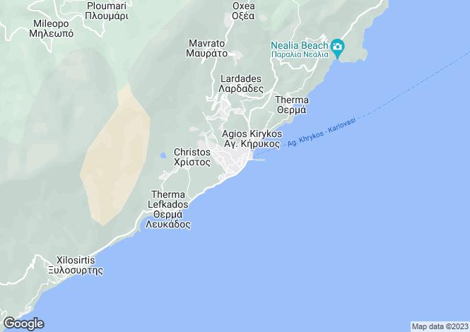 Map for Ikaria, North Aegean Islands, Greece