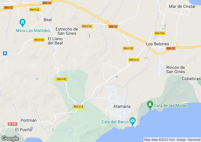 Map for La Manga Resort, Alicante, Spain