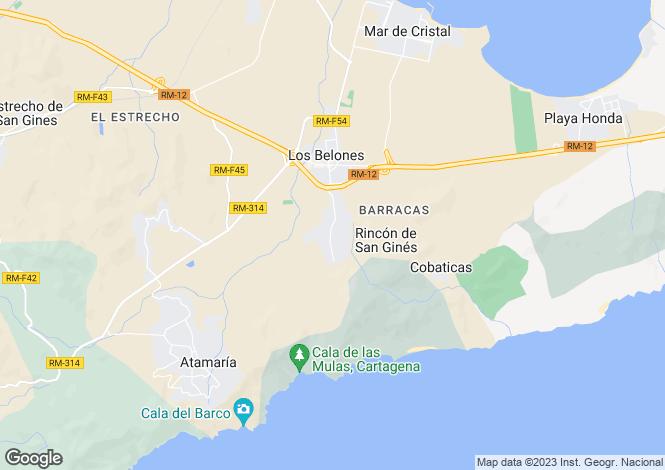 Map for Los Belones, Murcia