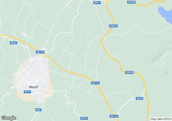 Map for Sicily, Agrigento, Menfi