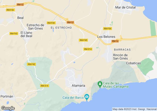 Map for Cartagena, Murcia