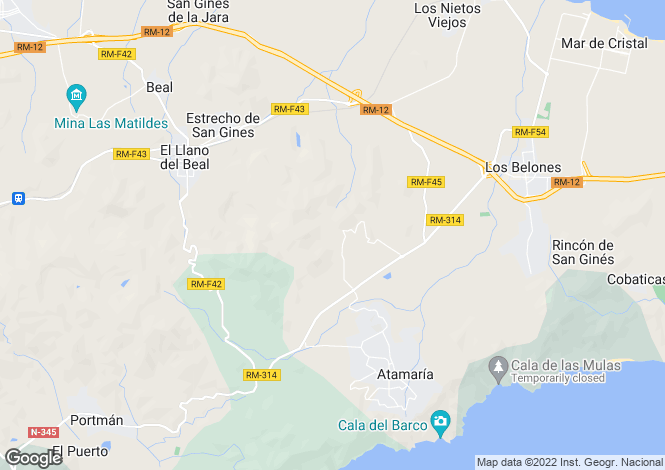Map for Murcia, La Manga Club