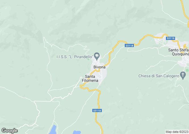 Map for Sicily, Agrigento, Bivona