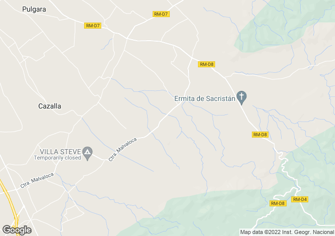 Map for Murcia, Lorca