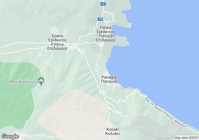 Map for Peloponnese, Argolis, Palaia Epidavros