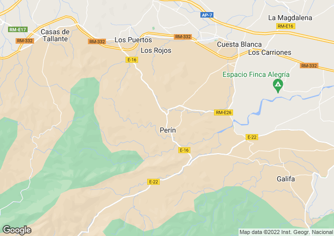 Map for Murcia, Perin