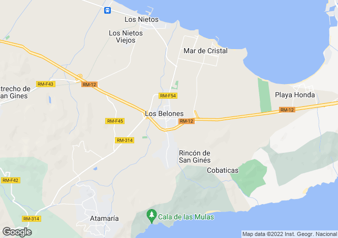 Map for Spain - Murcia, Los Belones