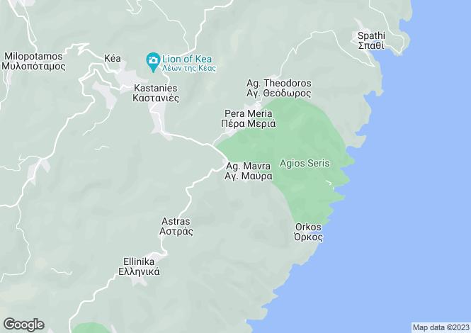 Map for Agios Serris Villa, Kea Island, Cyclades