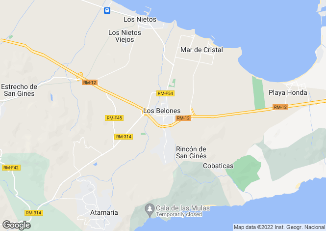 Map for Los Belones, Murcia