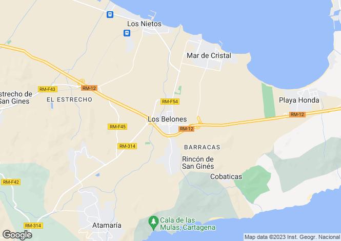 Map for Los Belones, Murcia, Spain