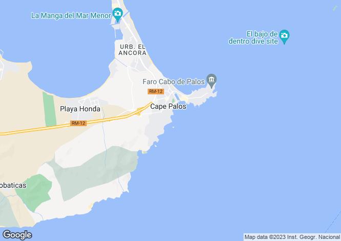 Map for Cabo de Palos, Murcia
