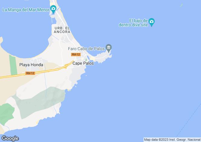 Map for Spain - Murcia, Cabo de Palos