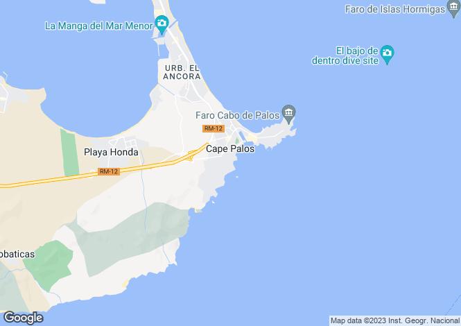 Map for Murcia, Cabo de Palos